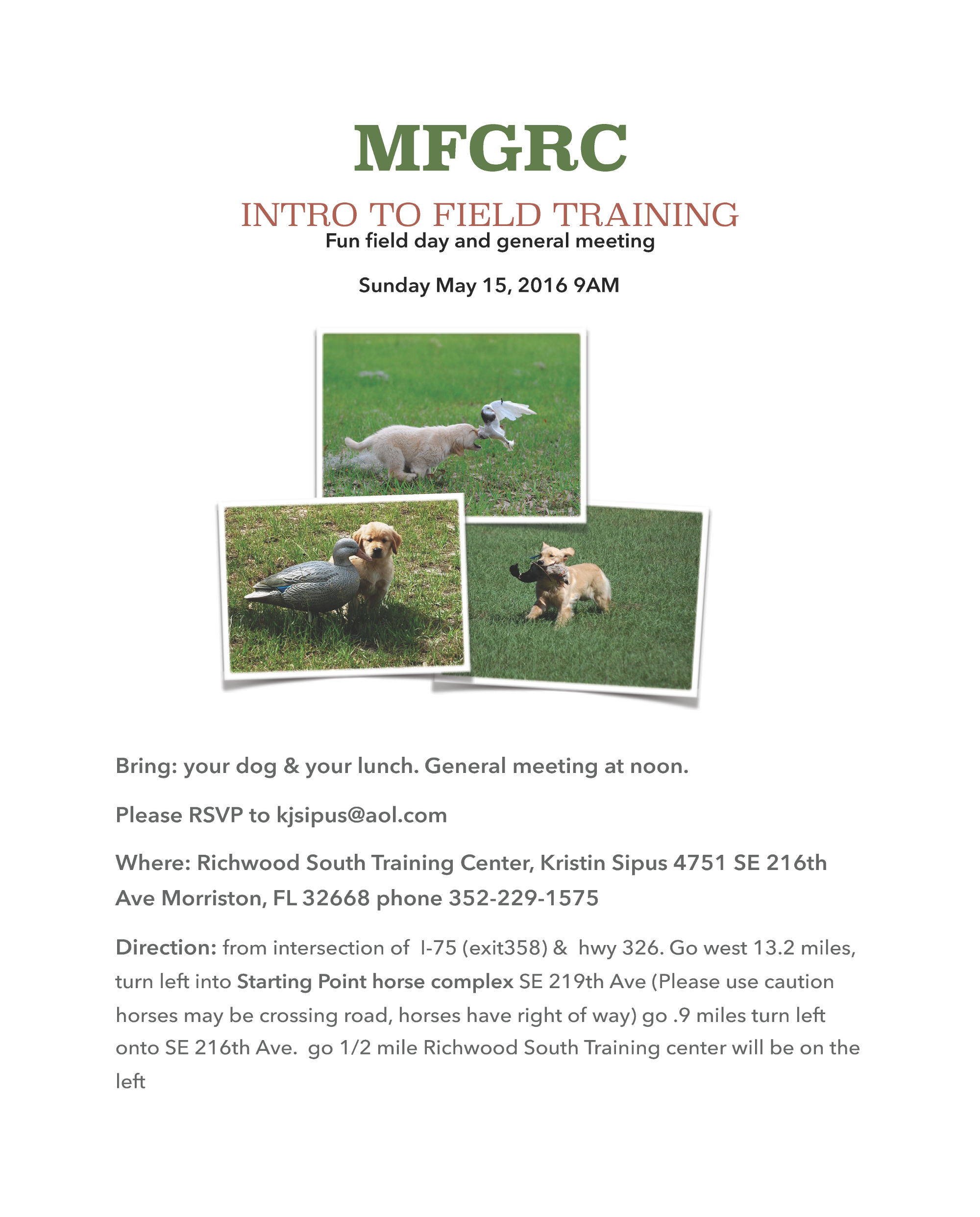 MFGRC Field Day May 2016